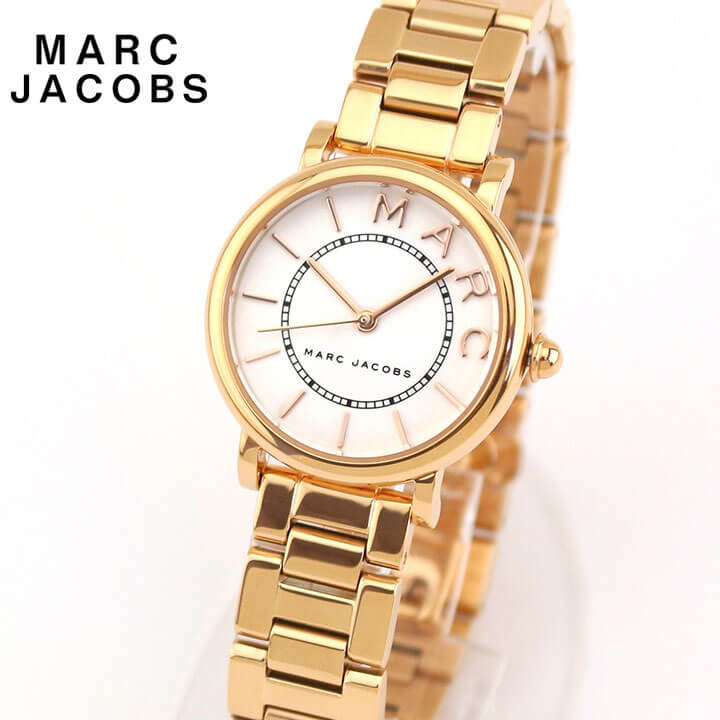 【送料無料】 Marc Jacobs マーク ジェイコブス ROXY ロキシー レディース 腕時計 メタル クオーツ アナログ 白 ホワイト ピンクゴールド ローズゴールド 誕生日プレゼント 女性 ギフト MJ3527 海外モデル