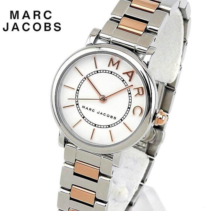 【先着!250円OFFクーポン】Marc Jacobs マーク ジェイコブス ROXY ロキシー 28mm レディース 腕時計 メタル クオーツ アナログ 白 ホワイト ピンクゴールド ローズゴールド 銀 シルバー 誕生日プレゼント 女性 ギフト MJ3553 海外モデル ブランド