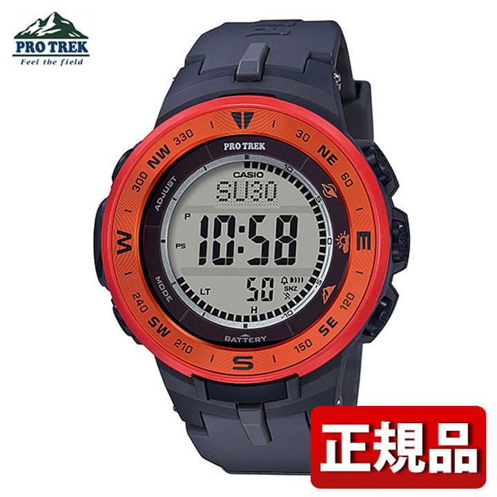 【送料無料】CASIO カシオ PRO TREK プロトレック PRG-330-4AJF メンズ 腕時計 ウレタン タフソーラー デジタル 黒 ブラック オレンジ 国内正規品