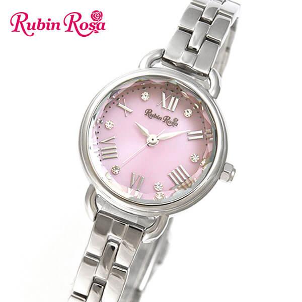 【ノベルティ付き】【送料無料】 Rubin Rosa ルビンローザ R019SOLSPK 国内正規品 レディース 腕時計 ウォッチ メタル バンド ソーラー アナログ ピンク 銀 シルバー 商品到着後レビューを書いて7年保証