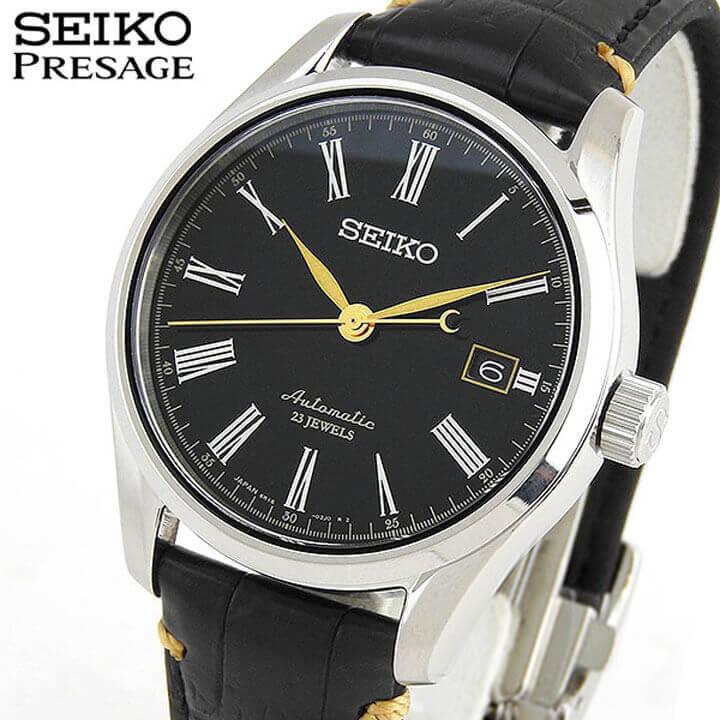 セイコー プレザージュ 腕時計 SEIKO PRESAGE メンズ 自動巻き 漆ダイヤル うるし SARX029 ブラック 国内正規品 メカニカル クロコダイル 誕生日 ギフト ブランド