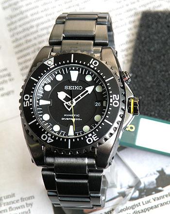 SEIKO セイコーダイバーズウォッチ キネティック搭載 水漏れ安心の20気圧防水仕様 SKA427P1メタル(ブラック)メンズ 腕時計 時計 ウォッチ 逆輸入 誕生日プレゼント 男性 ギフト ブランド