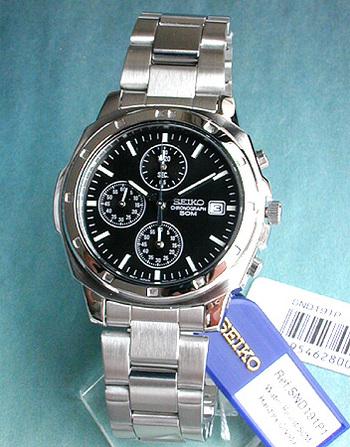 【先着!250円OFFクーポン】SEIKO セイコー 逆輸入 メンズ 腕時計時計 薄型 クロノグラフ SND191P1 正規海外モデル 日本製ムーブメント 誕生日プレゼント 男性 ギフト ブランド