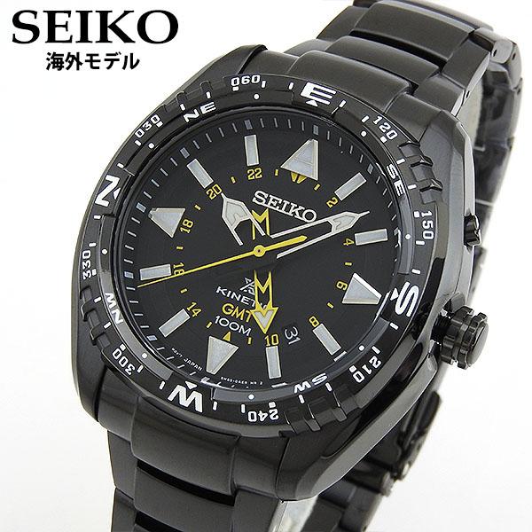 SEIKO セイコー PROSPEX プロスペックス SUN047P1 海外モデル メンズ 腕時計 ウォッチ キネティック GMT 黒 ブラック 黄色 イエロー 逆輸入 誕生日プレゼント 男性 ギフト ブランド
