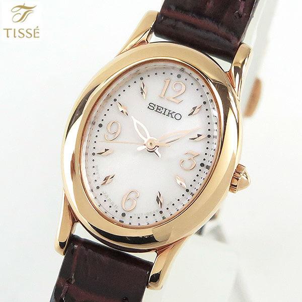 セイコー セレクション ティセ 腕時計 SEIKO SELECTION TISSE SWFA148 ソーラー 革ベルト レザー レディース 国内正規品 ブラウン ピンクゴールド 商品到着後レビューを書いて7年保証 誕生日プレゼント 女性 ギフト ブランド