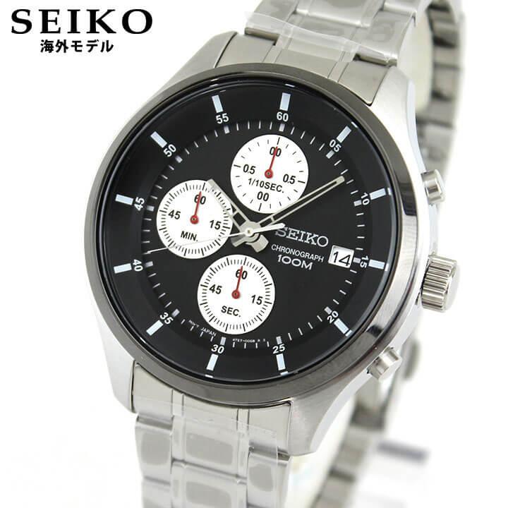 【送料無料】 SEIKO セイコー 逆輸入 海外モデル SKS545P1 メンズ 腕時計 ウォッチ メタル バンド クオーツ アナログ 銀 シルバー 黒 ブラック 誕生日プレゼント 男性 ギフト
