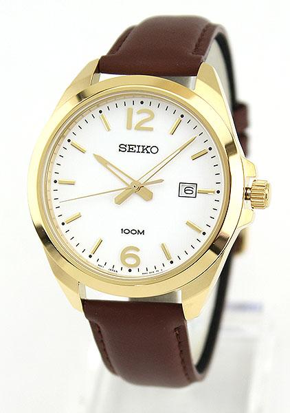 f99bb9a4df ... SEIKOセイコー逆輸入海外モデルSUR216P1メンズ腕時計ウォッチ革バンドレザークオーツアナログホワイト ...