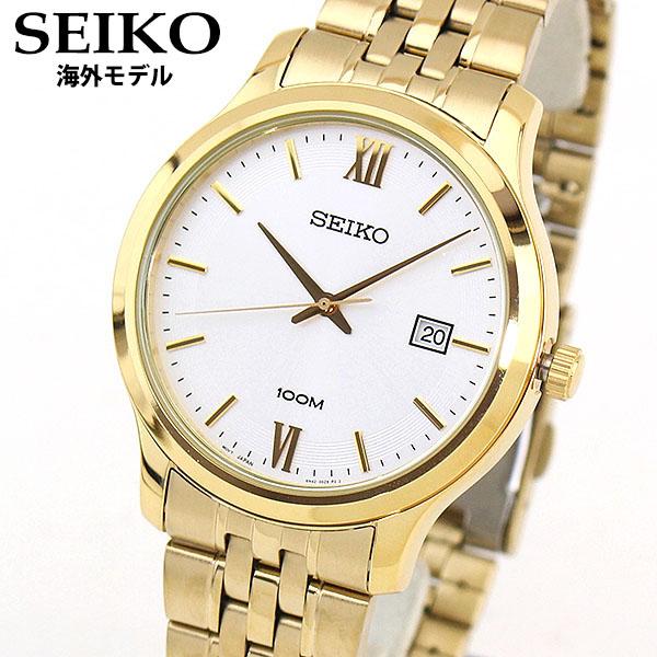 【送料無料】 SEIKO セイコー SUR224P1 海外モデル 逆輸入 メンズ 腕時計 ウォッチ メタル バンド クオーツ アナログ 金 ゴールド 銀 シルバー 誕生日プレゼント 男性 ギフト