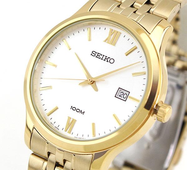 【】 SEIKO セイコー SUR224P1 海外モデル 逆輸入 メンズ 腕時計 ウォッチ メタル バンド クオーツ アナログ 金 ゴールド 銀 シルバー 誕生日プレゼント 男性 ギフト