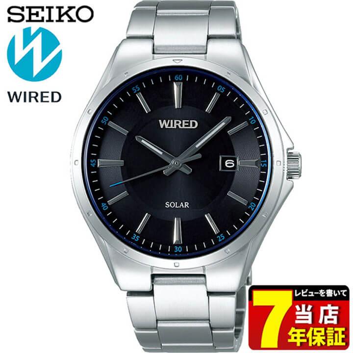 SEIKO セイコー WIRED ワイアード NEW STANDARD ニュースタンダード AGAD402 メンズ 腕時計 メタル ソーラー ブラック シルバー 国内正規品 商品到着後レビューを書いて7年保証