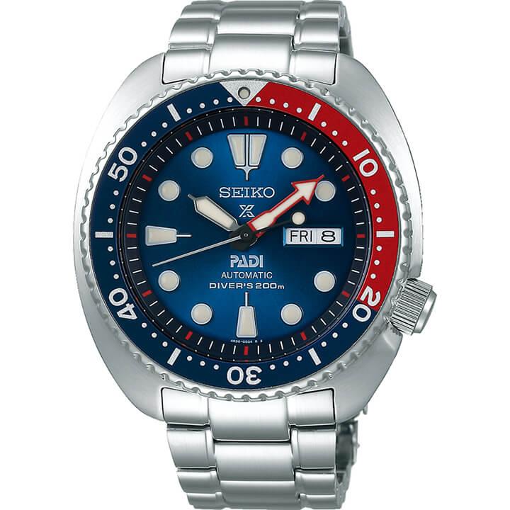 SEIKO セイコー PROSPEX プロスペックス PADI スペシャルモデル SBDY017 メンズ 腕時計 メタル 機械式 メカニカル 自動巻き 赤 レッド 青 ブルー 国内正規品 商品到着後レビューを書いて7年保証 還暦 卒業祝い 入学祝い ギフト ブランド