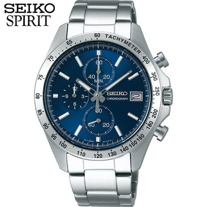 【送料無料】 SEIKO セイコー SPIRIT スピリット SBTR023 メンズ 腕時計 メタル クロノグラフ 青 ネイビー 国内正規品 商品到着後レビューを書いて7年保証 誕生日プレゼント 男性 ギフト 還暦