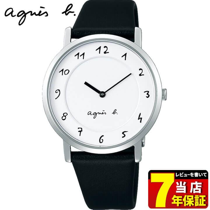 SEIKO セイコー agnesb. アニエス・ベー マルチェロ レディース 腕時計 牛皮革 黒 ブラック 白 ホワイト 誕生日プレゼント 女性 ギフト FCSK930 国内正規品 商品到着後レビューを書いて7年保証