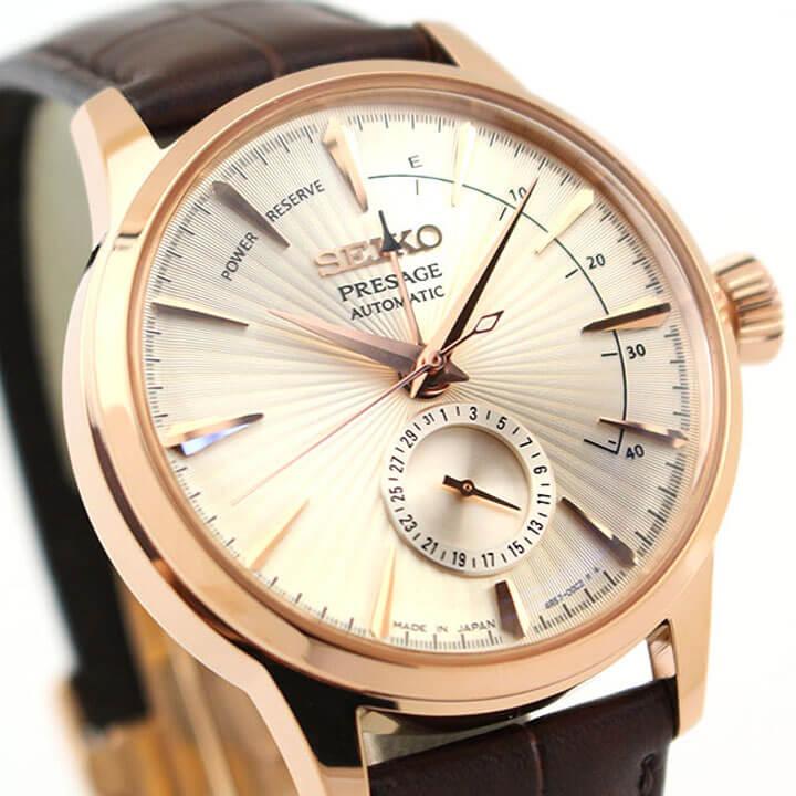 【ノベルティ付き】SEIKO セイコー PRESAGE プレザージュ SARY132 メンズ 腕時計 レザー 革ベルト 機械式 メカニカル 自動巻き ピンクゴールド 国内正規品 商品到着後レビューを書いて7年保証 卒業祝い 入学祝い ギフト ブランド