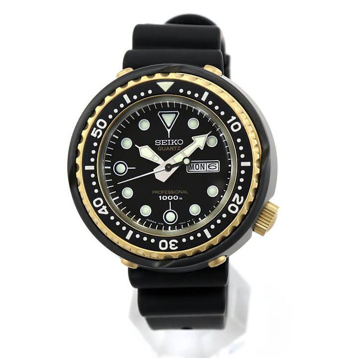 SEIKO セイコー PROSPEX プロスペックス 限定モデル SBBN040 メンズ 腕時計 シリコン ラバー ダイバー ダイバーズウォッチ 黒 ブラック 金 ゴールド 国内正規品 商品到着後レビューを書いて7年保証 卒業祝い 入学祝い ギフト ブランド