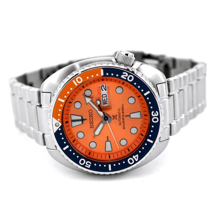 SEIKO セイコー PROSPEX プロスペックス タートル SBDY023 メンズ 腕時計 メタル ダイバーズ 機械式 メカニカル 自動巻き 銀 シルバー オレンジ 国内正規品 商品到着後レビューを書いて7年保証 卒業祝い 入学祝い ギフト ブランド