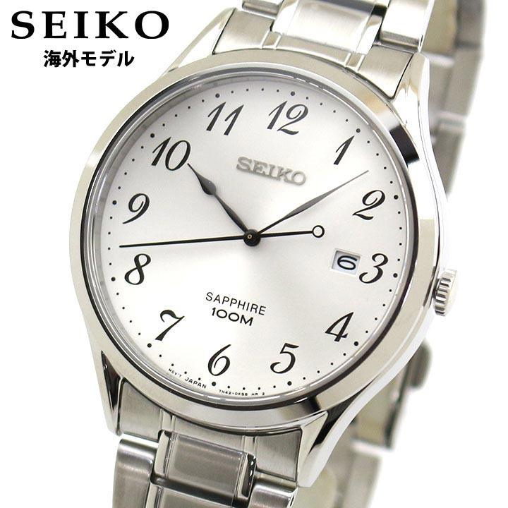 【先着!250円OFFクーポン】SEIKO セイコー 逆輸入 海外モデル SGEH73P1 メンズ 腕時計 メタル クオーツ アナログ 白 ホワイト 銀 シルバー 誕生日プレゼント 男性 ギフト 海外モデル