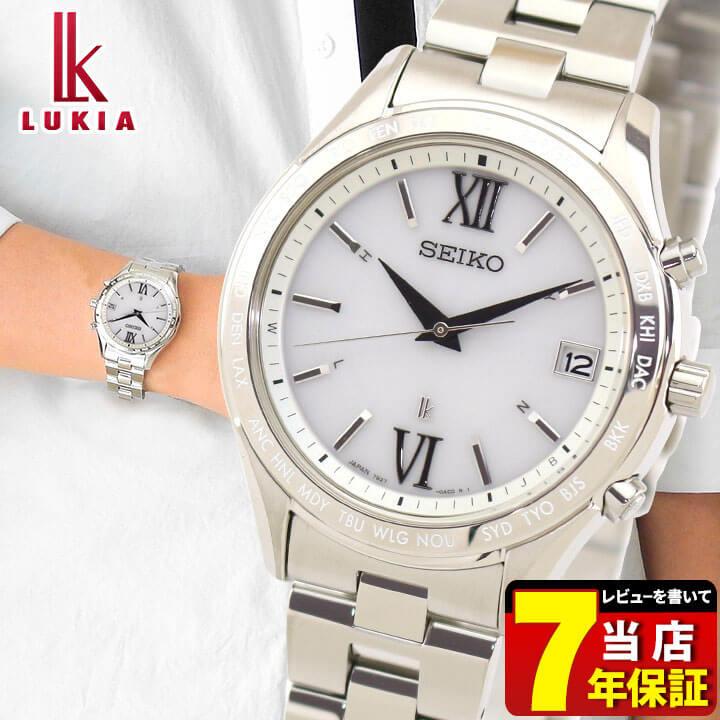 SEIKO セイコー LUKIA ルキア SSVH025 メンズ 腕時計 メタル 電波ソーラー アナログ 白 ホワイト 銀 シルバー 国内正規品 商品到着後レビューを書いて7年保証 誕生日プレゼント 男性 ギフト
