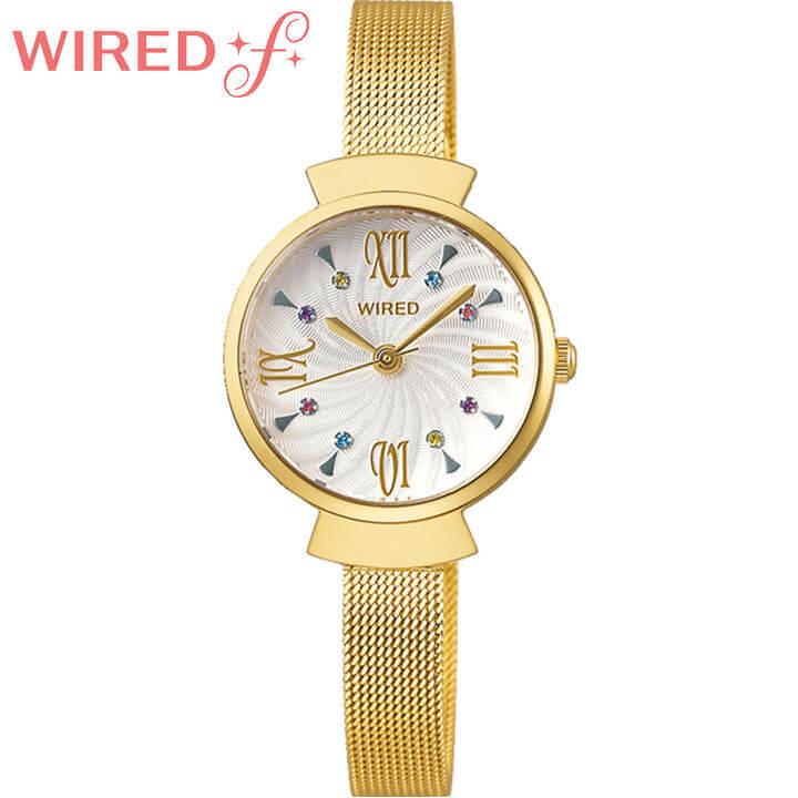 【サコッシュ付き】SEIKO セイコー WIREDf ワイアードf レディース 腕時計 メタル 白 ホワイト 金 ゴールド 誕生日 女性 ギフト プレゼント AGEK459 国内正規品 商品到着後レビューを書いて7年保証