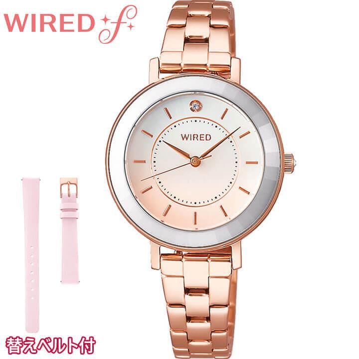 替えベルト付き SEIKO セイコー WIREDf ワイアードf TOKYO GIRL MIX トーキョー ガール ミックス レディース 腕時計 時計 ホワイト ピンク AGEK464 誕生日プレゼント 女性 ギフト 国内正規品 商品到着後レビューを書いて7年保証