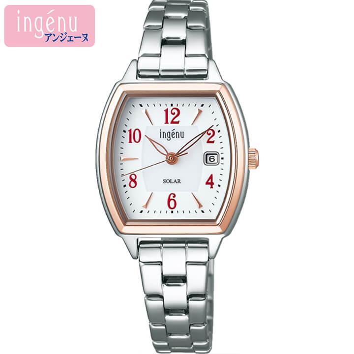 SEIKO セイコー ALBA アルバ ingenu アンジェーヌ レディース 腕時計 時計 メタル ソーラー 銀 シルバー ホワイト 誕生日プレゼント 女性 ギフト AHJD411 国内正規品 商品到着後レビューを書いて7年保証
