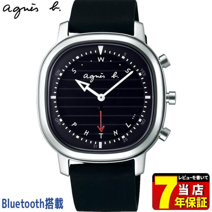 SEIKO セイコー agnesb. アニエスベー オム Bluetooth搭載 メンズ 腕時計 黒 ブラック 銀 シルバー シリコン 誕生日 男性 ギフト プレゼント FCRB402 国内正規品 商品到着後レビューを書いて7年保証 新社会人 時計