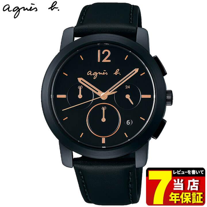 SEIKO セイコー agnesb. アニエス・ベー オム メンズ 腕時計 黒 ブラック 牛皮革 カーフ 誕生日 男性 ギフト プレゼント FCRT963 国内正規品 商品到着後レビューを書いて7年保証 新社会人 時計