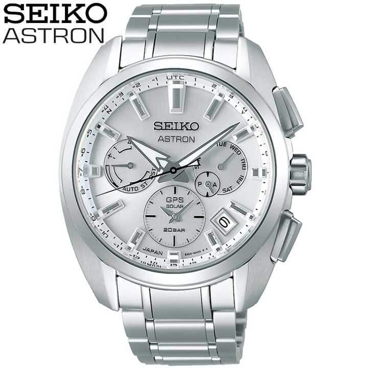 【大谷翔平ボブルヘッド付き】SEIKO セイコー ASTRON アストロン 5X デュアルタイム ソーラーGPS衛星電波修正 メンズ 腕時計 時計 メタル 銀 シルバー 誕生日 男性 ギフト プレゼント SBXC063 国内正規品