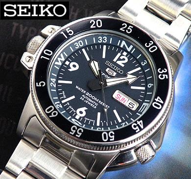 SEIKO 5 SPORTS セイコー5スポーツ SKZ209J 機械式 自動巻き 青 ネイビー ダイバーズ メンズ 腕時計 時計 海外モデル 誕生日 男性 ギフト プレゼント