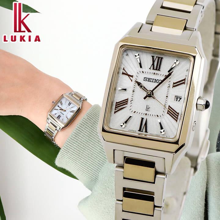 【先行予約受付中!11月9日発売予定】 SEIKO セイコー LUKIA ルキア レディース 腕時計 白 ホワイト 銀 シルバー シャンパンゴールド リニューアルモデル 誕生日プレゼント 女性 ギフト SSVW160 国内正規品 商品到着後レビューを書いて7年保証