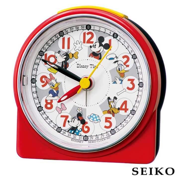 SEIKO セイコークロック ミッキーフレンズ 国内正規品 FD480R キッズ Disney セール特価品 目覚まし キャラクター 目覚し かわいい めざまし 卒園祝い 子供 入学祝い おすすめ 誕生日プレゼント 男の子 置時計 小学生 女の子