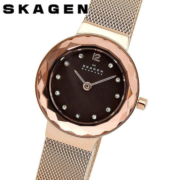 【送料無料】 SKAGEN スカーゲン 456SRR1 レディース 腕時計 メタル クオーツ カジュアル ビジネス スーツ アナログ 黒 ブラック ピンクゴールド ローズゴールド 誕生日プレゼント 女性 ギフト 海外モデル