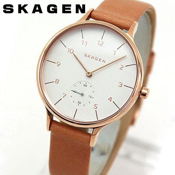 【送料無料】SKAGEN スカーゲン ANITA アニタ SKW2405 海外モデル レディース 腕時計 ウォッチ 革ベルト レザー クオーツ アナログ キャメル 北欧デザイン