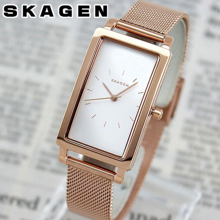 SKAGEN スカーゲン HAGEN ハーゲン SKW2466 海外モデル レディース 腕時計 ウォッチ メタル バンド クオーツ アナログ 金 ピンクゴールド 銀 シルバー 北欧デザイン 誕生日プレゼント ギフト ブランド