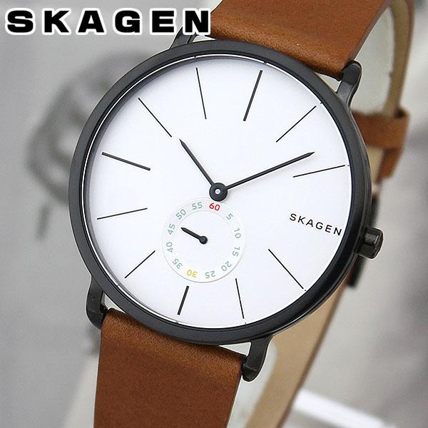 【送料無料】 SKAGEN スカーゲン SKW6216 海外モデル メンズ 腕時計 ウォッチ 革ベルト レザー クオーツ アナログ 銀 シルバー 茶 ブラウン 誕生日プレゼント ギフト 北欧デザイン