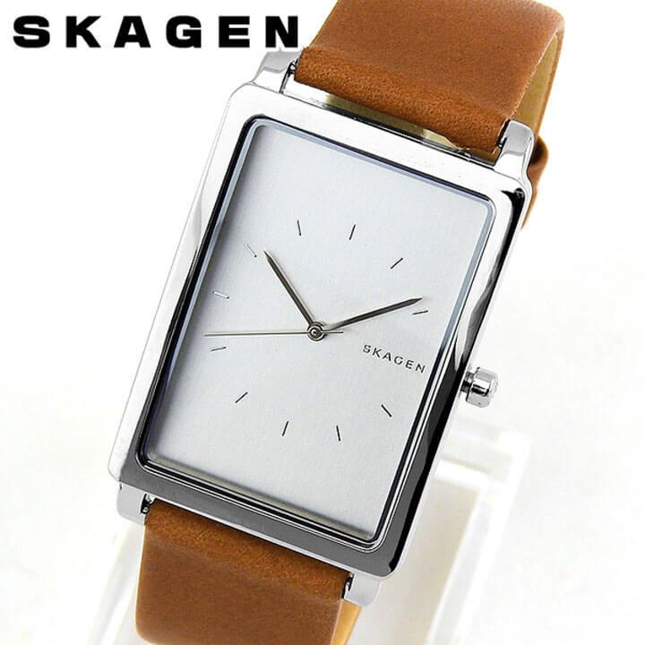 【送料無料】 SKAGEN スカーゲン HAGEN ハーゲン メンズ 腕時計 革ベルト レザー 茶 ブラウン 銀 シルバー クオーツ アナログ 誕生日プレゼント 男性 ギフト SKW6289 海外モデル