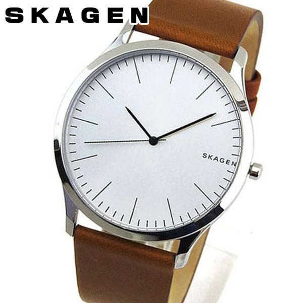 SKAGEN スカーゲン Jorn ジョーン メンズ 腕時計 革バンド レザー 茶 ブラウン 銀 シルバー カジュアル クオーツ アナログ SKW6331 海外モデル 誕生日プレゼント 男性 ギフト ブランド