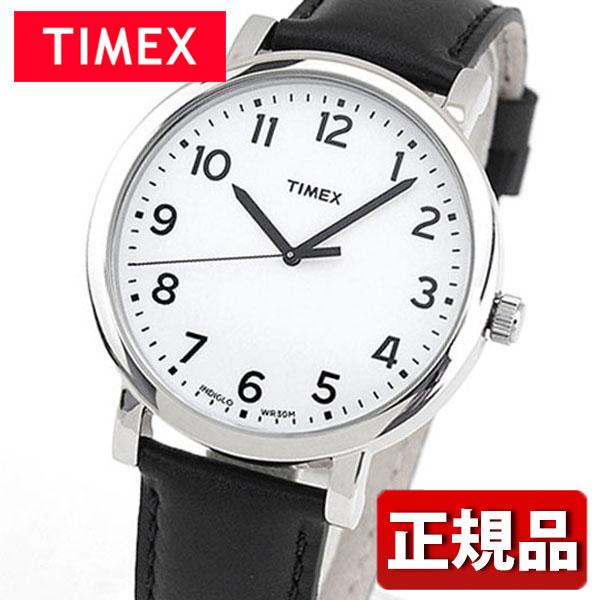 メーカー1年保証 TIMEX タイメックス Modern Easy Reader モダンイージーリーダー TIMEX-T2N338 国内正規品 メンズ 腕時計 ウォッチ 革ベルト レザー クオーツ カジュアル アナログ 黒 ブラック 白 ホワイト