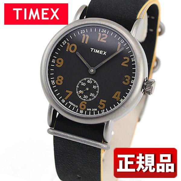メーカー1年保証 【送料無料】 TIMEX タイメックス Weekende ウィークエンダービンテージ スモールセコンド TIMEX-TW2P86700 国内正規品 メンズ 腕時計 ウォッチ 革ベルト レザー クオーツ アナログ 黒 ブラック