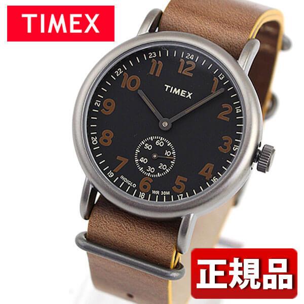 【送料無料】 TIMEX タイメックス Weekender 40 ウィークエンダービンテージ TW2P86800 国内正規品 メンズ レディース 腕時計 男女兼用 ユニセックス 革ベルト レザー クオーツ アナログ 黒 ブラック 茶 ブラウン