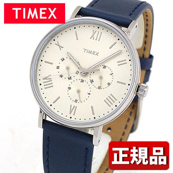 TIMEX タイメックス Southview サウスビューマルチブルー TW2R29200 国内正規品 メンズ 腕時計 ウォッチ 革ベルト レザー クオーツ アナログ 白 ホワイト 青 ネイビー