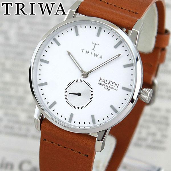 【送料無料】 TRIWA トリワ FAST103-CL010212 Ivory Falken 海外モデル レディース 腕時計 ウォッチ 革ベルト レザー クオーツ アナログ 白 ホワイト 銀 シルバー 茶 ブラウン