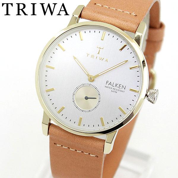 【送料無料】 TRIWA トリワ FAST105-CL010617 海外モデル レディース 腕時計 ウォッチ 革ベルト レザー クオーツ アナログ 文字板 シルバー ベージュ