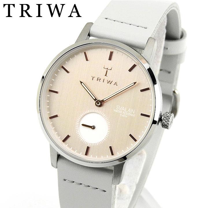 【送料無料】TRIWA トリワ SVALAN スヴァラン SVST102-SS111512 レディース 腕時計 革ベルト レザー 銀 シルバー グレー ローズゴールド クリスマス 誕生日プレゼント 女性 ギフト 海外モデル