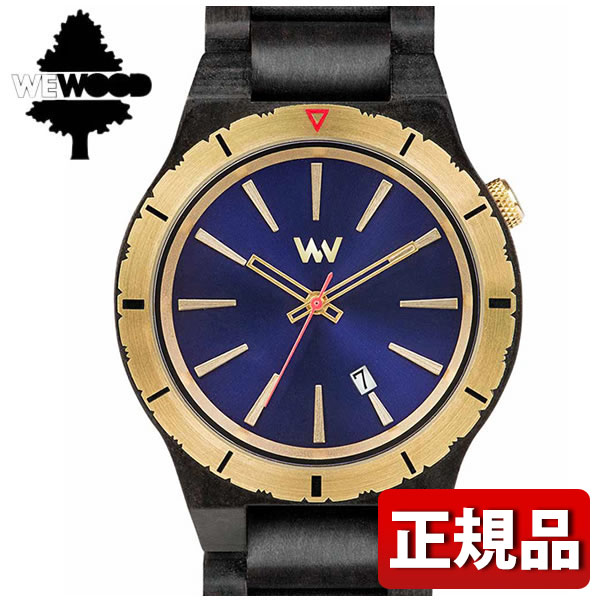 【】 WEWOOD ウィーウッド ASSUNT MB BLUE GOLD 9818134 国内正規品 メンズ 腕時計 木製 ウォッチ クオーツ アナログ 黒 ブラック 青 ネイビー 金 ゴールド