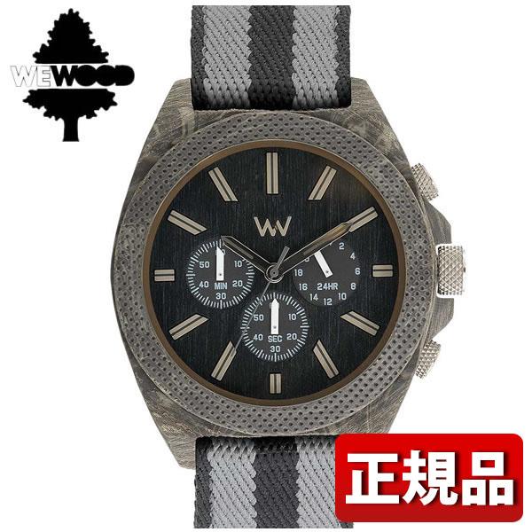 【送料無料】 WEWOOD ウィーウッド PHOENIX CHRONO TEAK BK 9818141 国内正規品 メンズ 腕時計 ウォッチ 木製 ナイロン バンド クロノグラフ クオーツ アナログ 黒 ブラック 白系 グレー