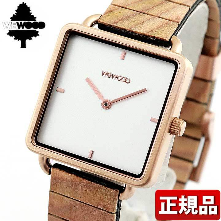 WEWOOD ウィーウッド LEIA ROSE GOLD WHITE 木製 9818204 レディース 腕時計 茶 ブラウン 白 ホワイト 国内正規品 誕生日プレゼント 女性 ギフト