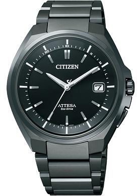 """公民 ATTESA ATD53 3051""""生态驱动收音机时钟标准"""""""