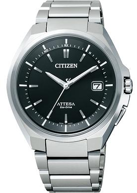 """公民 ATTESA ATD53-3052""""生态驱动收音机时钟标准"""""""