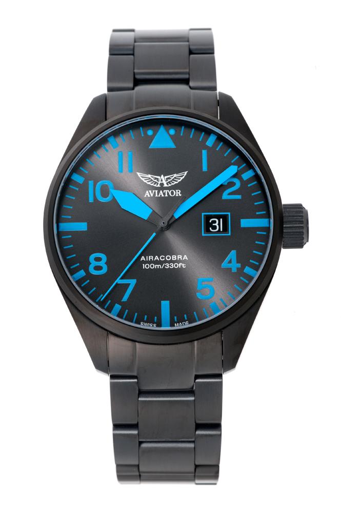 正規品 AVIATOR アビエイター V.1.22.5.188.5 エアラコブラ P42 クォーツ 腕時計